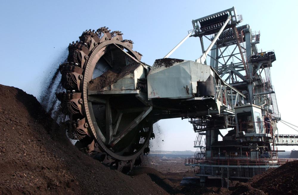 maszyna wykorzystywana w kopalni wegla